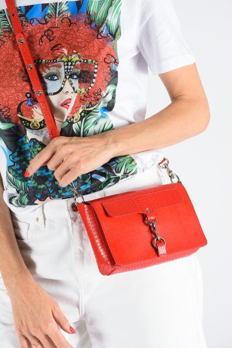 Handtaschen Rebecca Minkoff MAB FLAP CROSSBODY PYTHON rot ansicht von oben