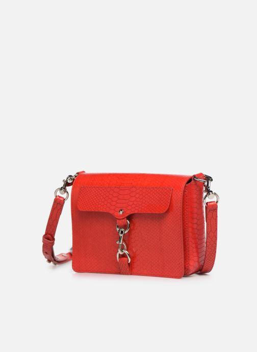 Handtaschen Rebecca Minkoff MAB FLAP CROSSBODY PYTHON rot schuhe getragen