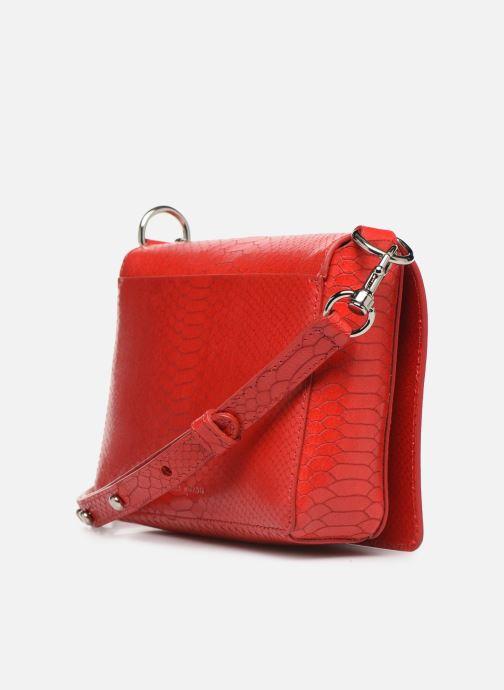 Handtaschen Rebecca Minkoff MAB FLAP CROSSBODY PYTHON rot ansicht von rechts