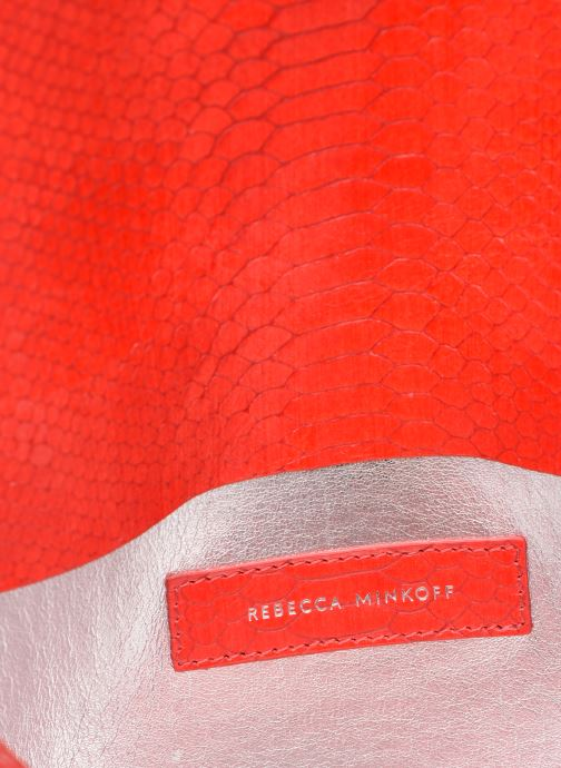 Handtaschen Rebecca Minkoff MAB FLAP CROSSBODY PYTHON rot ansicht von hinten