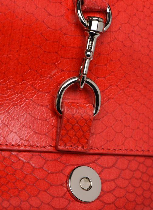 Handtaschen Rebecca Minkoff MAB FLAP CROSSBODY PYTHON rot ansicht von links