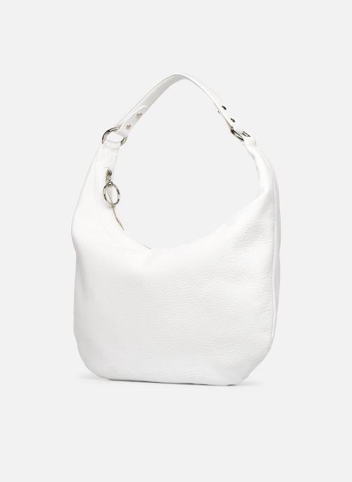 Bolsos de mano Rebecca Minkoff NEW REBECCA HOBO PEBBLE Blanco vista del modelo