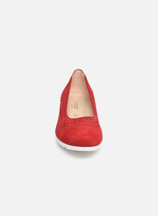 Ballerines Gabor Meloe Rouge vue portées chaussures