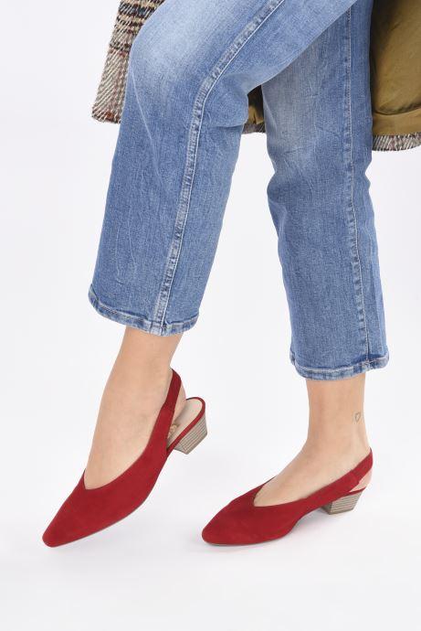 Zapatos de tacón Gabor Liv Rojo vista de abajo