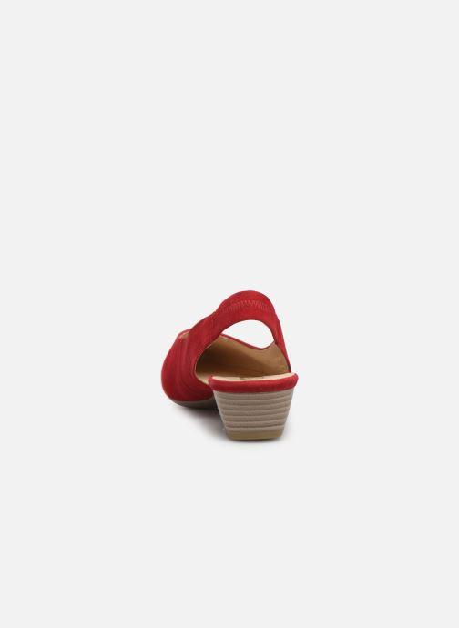 Zapatos de tacón Gabor Liv Rojo vista lateral derecha