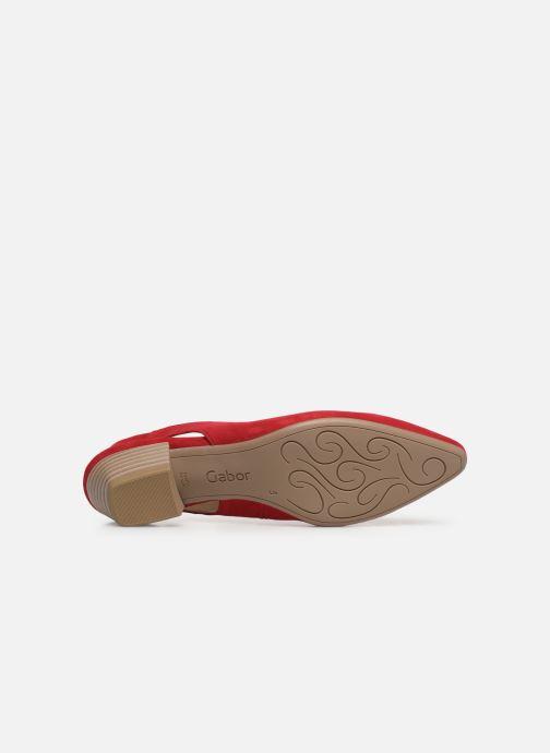 Zapatos de tacón Gabor Liv Rojo vista de arriba