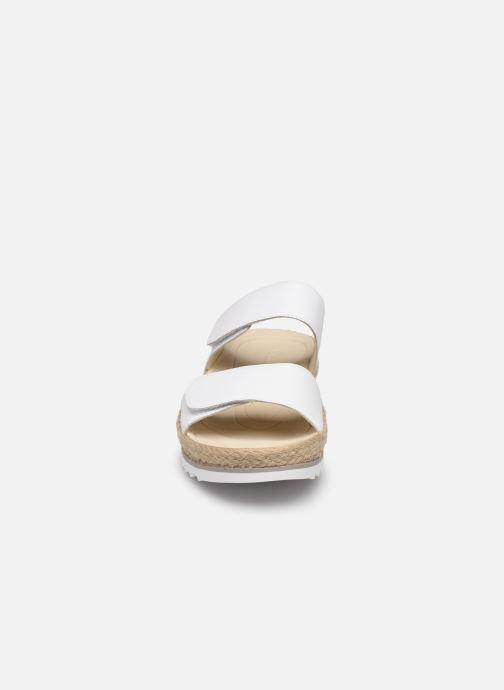 Mules et sabots Gabor Laly Blanc vue portées chaussures