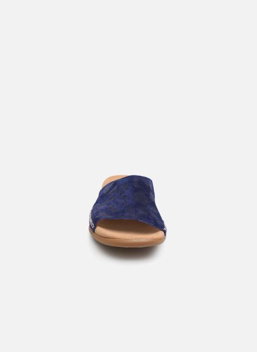 Mules et sabots Gabor Aya Bleu vue portées chaussures