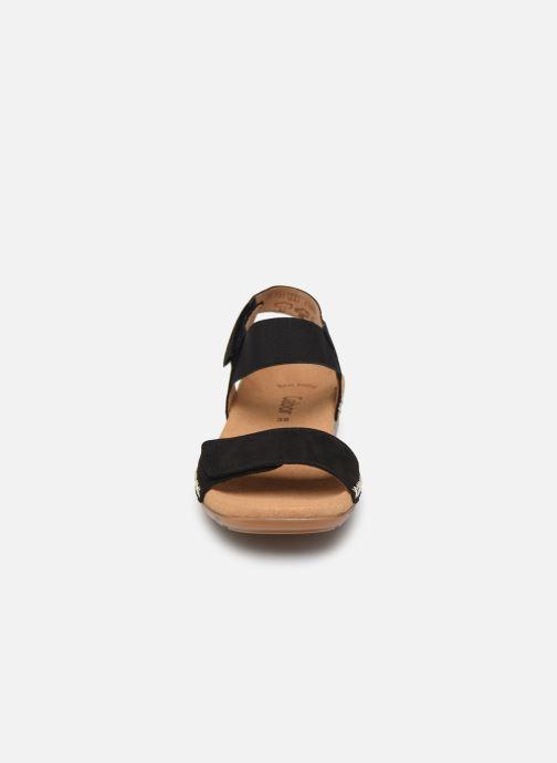 Sandales et nu-pieds Gabor Eryn Noir vue portées chaussures