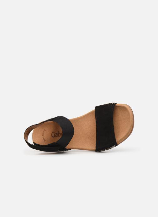 Sandales et nu-pieds Gabor Eryn Noir vue gauche