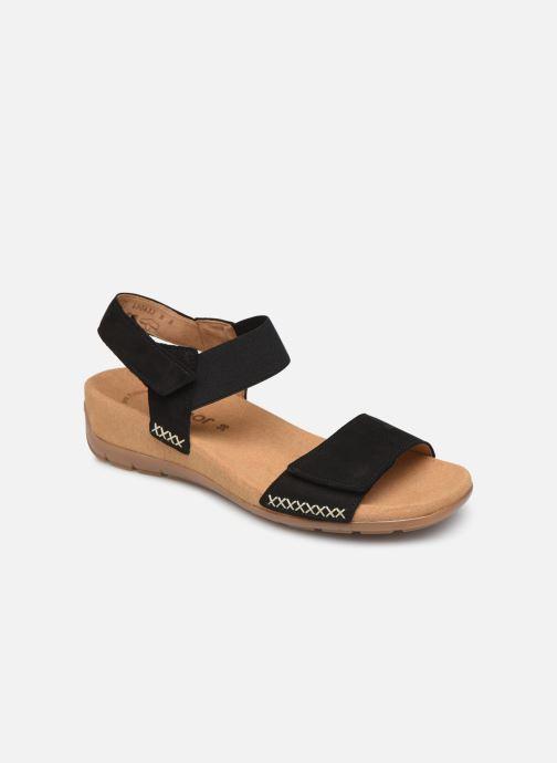Sandales et nu-pieds Gabor Eryn Noir vue détail/paire