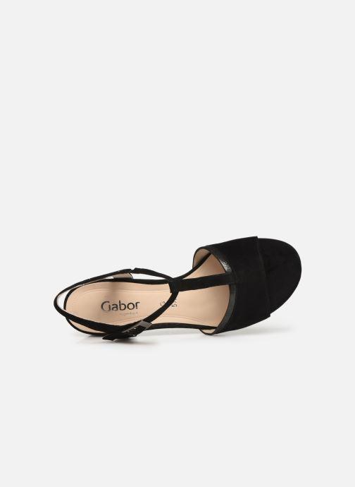 Sandales et nu-pieds Gabor Orlane Noir vue gauche