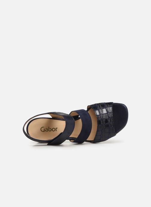 Sandales et nu-pieds Gabor Lexy Bleu vue gauche