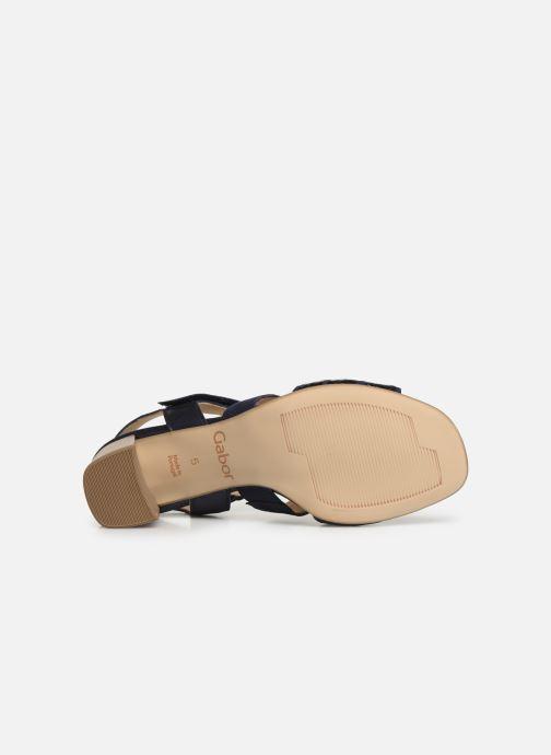 Sandales et nu-pieds Gabor Lexy Bleu vue haut