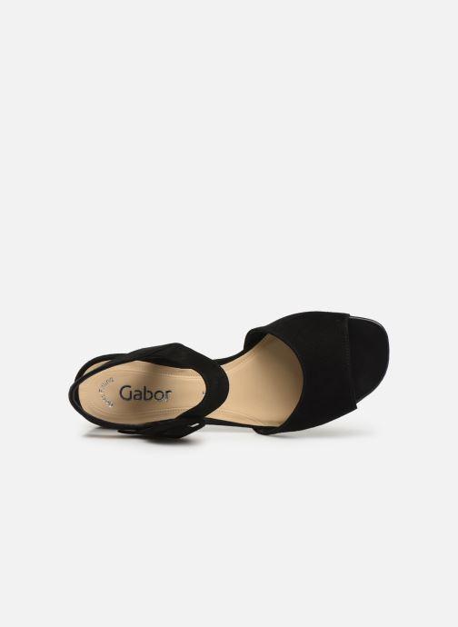 Sandales et nu-pieds Gabor Florine Noir vue gauche
