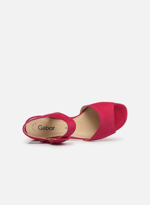 Sandales et nu-pieds Gabor Florine Rose vue gauche