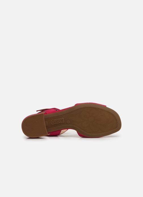 Sandales et nu-pieds Gabor Florine Rose vue haut
