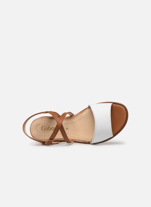 Sandales et nu-pieds Gabor Dulcé Marron vue gauche