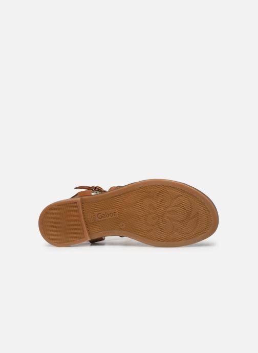 Sandales et nu-pieds Gabor Dulcé Marron vue haut