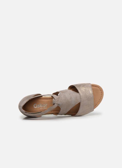 Sandales et nu-pieds Gabor Gaelle Beige vue gauche