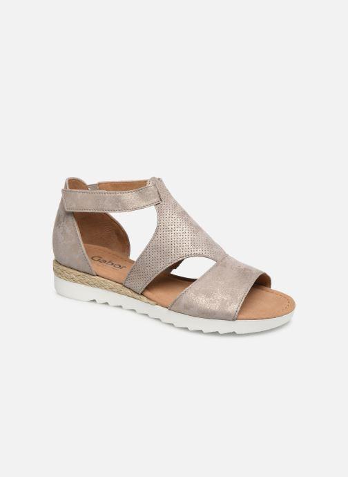 Sandales et nu-pieds Gabor Gaelle Beige vue détail/paire