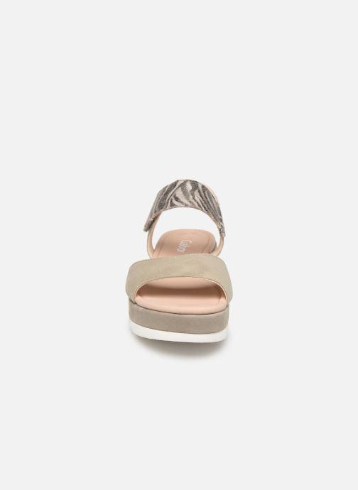Sandales et nu-pieds Gabor Talyla Gris vue portées chaussures