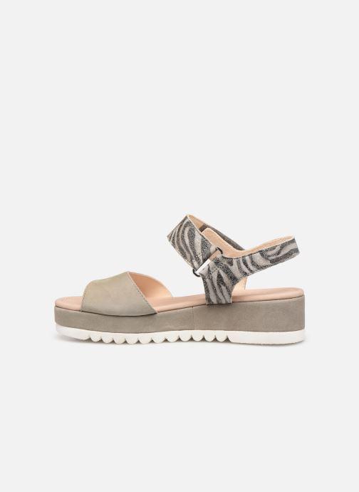 Sandales et nu-pieds Gabor Talyla Gris vue face