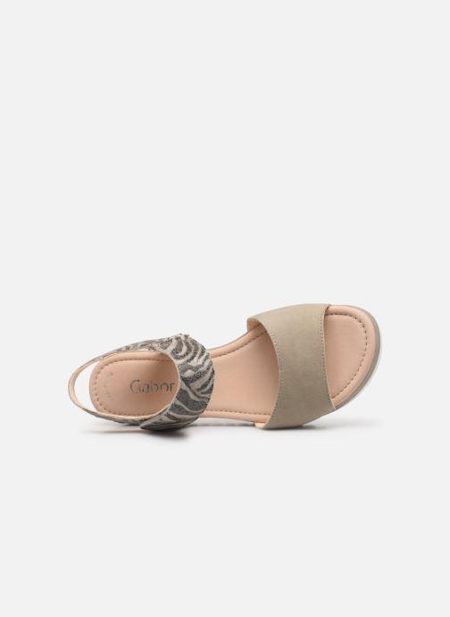 Sandales et nu-pieds Gabor Talyla Gris vue gauche