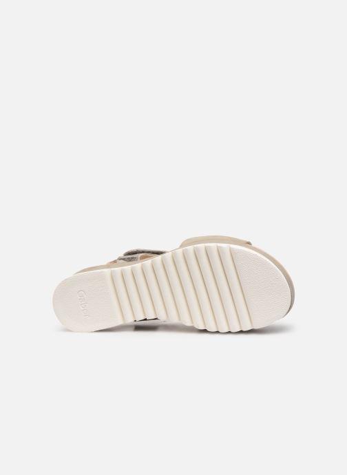 Sandales et nu-pieds Gabor Talyla Gris vue haut