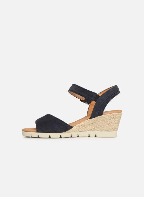Sandales et nu-pieds Gabor Danaé Bleu vue face