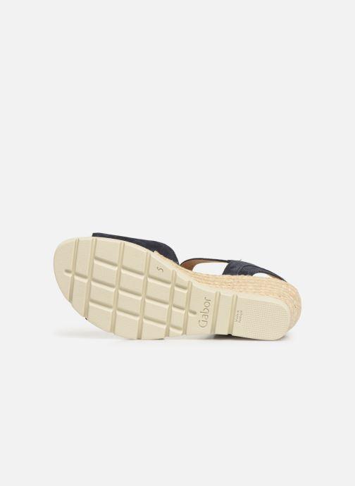 Sandales et nu-pieds Gabor Danaé Bleu vue haut