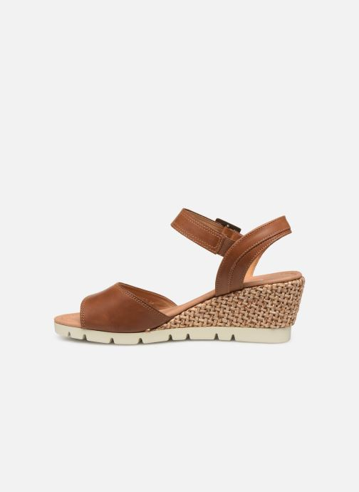 Sandales et nu-pieds Gabor Danaé Marron vue face