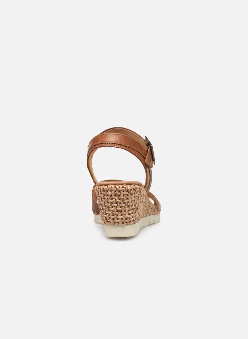 Sandales et nu-pieds Gabor Danaé Marron vue droite
