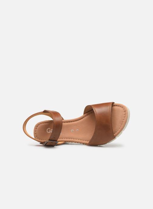 Sandales et nu-pieds Gabor Danaé Marron vue gauche