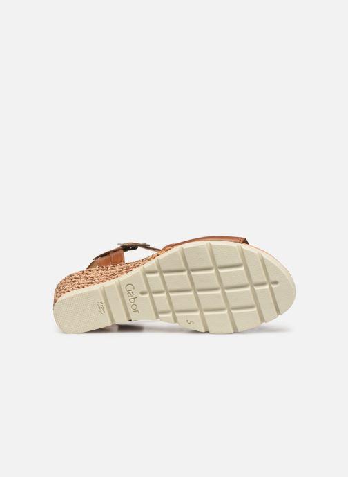 Sandales et nu-pieds Gabor Danaé Marron vue haut