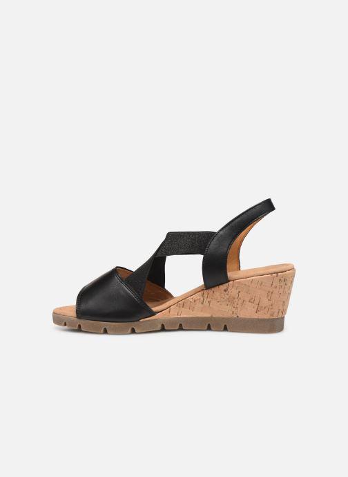 Sandales et nu-pieds Gabor Coraline Noir vue face