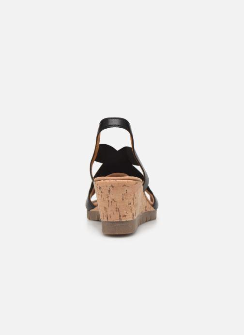 Sandales et nu-pieds Gabor Coraline Noir vue droite