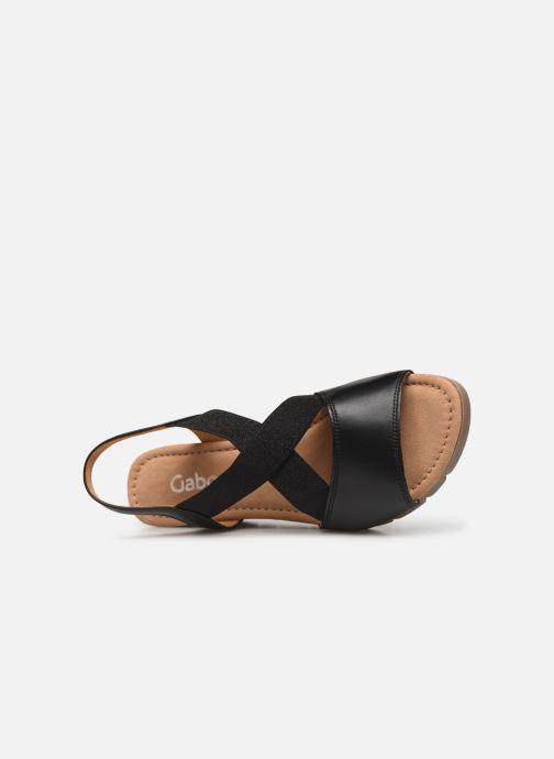 Sandales et nu-pieds Gabor Coraline Noir vue gauche