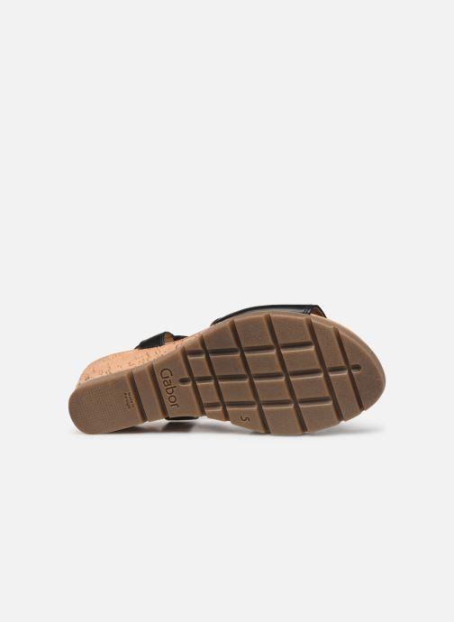 Sandales et nu-pieds Gabor Coraline Noir vue haut
