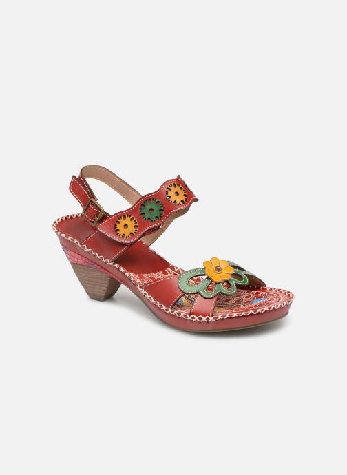 Sandaler Laura Vita BEIGNET 33 Rød detaljeret billede af skoene