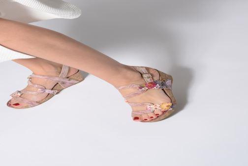 Sandals Laura Vita BELINDA 209 Pink view from underneath / model view