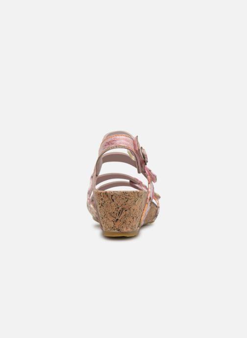 Sandales et nu-pieds Laura Vita BELINDA 209 Rose vue droite