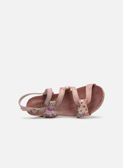 Sandales et nu-pieds Laura Vita BELINDA 209 Rose vue gauche