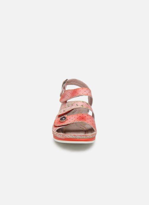 Sandales et nu-pieds Laura Vita BRUEL 069 Rouge vue portées chaussures
