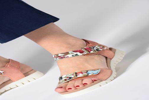 Sandales et nu-pieds Laura Vita DOBBY 039 Orange vue bas / vue portée sac