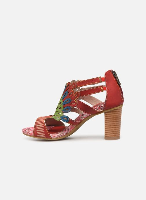 Sandals Laura Vita FANNY 03 Red front view