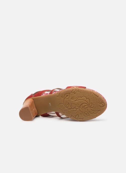 Sandales et nu-pieds Laura Vita FANNY 03 Rouge vue haut