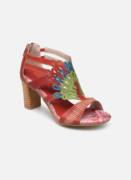 Sandals Laura Vita FANNY 03 Red detailed view/ Pair view