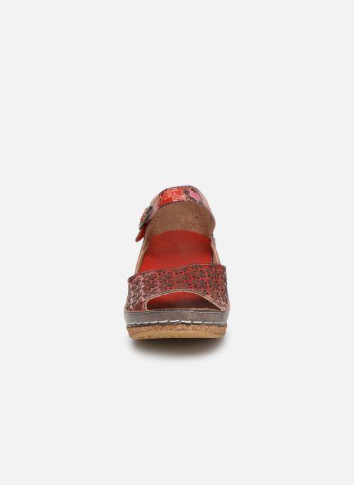 Sandales et nu-pieds Laura Vita FACSCINEO 03 Rouge vue portées chaussures