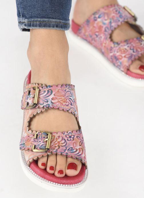 Clogs & Pantoletten Laura Vita Facucono 02 rosa ansicht von unten / tasche getragen